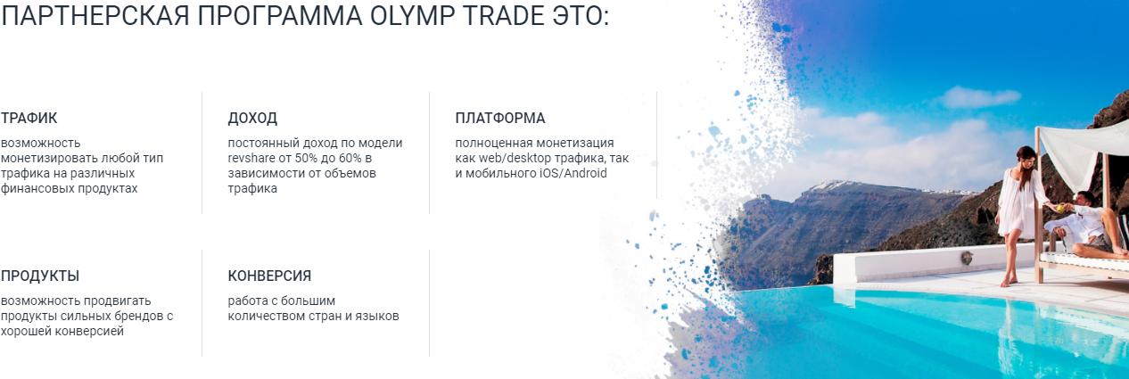 партнерская программа OlympTrade