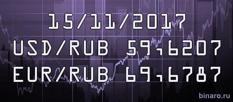 Курс доллара и евро на 15 ноября 2017