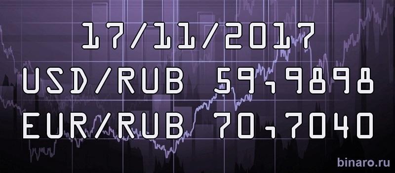 курс доллара и евро 17 ноября 2017