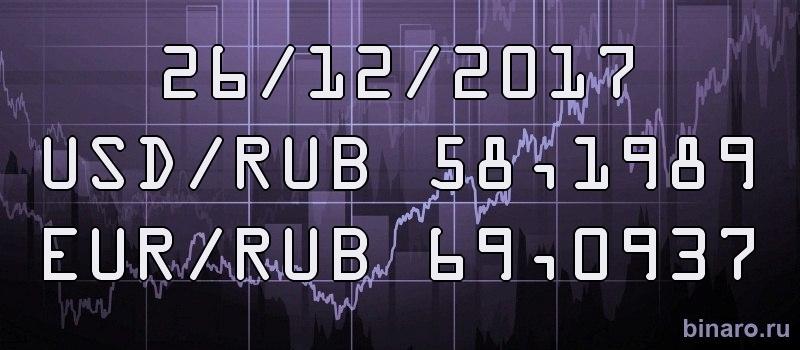 курс доллара и евро 26 декабря 2017