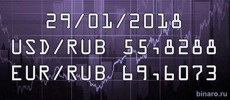 курсы доллара и евро 29 января 2018